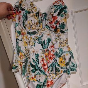 Peplum swim suit